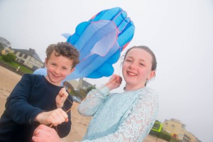 Pictured helping to announce a brand new Kite Flying and Baloon Festival in Wexford is sister and brother Rachel (age 10) and James Reburn age 8; the festival which features lots of old-fashioned family fun takes place in Duncannon during the June bank-holiday weekend. See Visitwexford.ie Ð Photograph Patrick Browne.