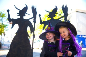 Free To Use Image. Pictured at Gorey, Co. Wexford were Caoimhe O'Donohue and Doireann Doyle on Gorey Main Street looking forward to a GOREY Halloween. Picture: Patrick Browne.